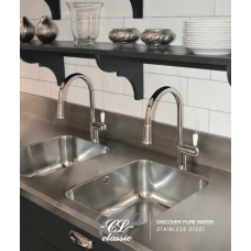 Nivito Classic 200 Stainless Steel Kitchen Faucet